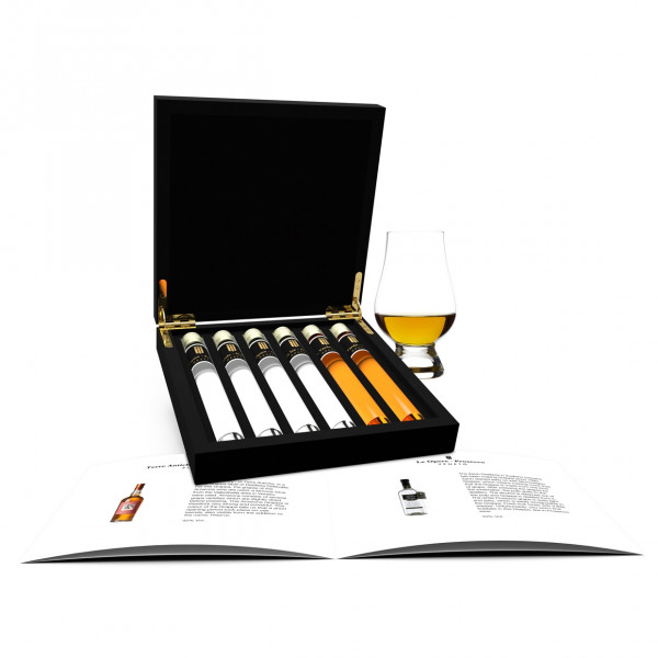 Grappa Tasting 6 Tubes in wooden box
