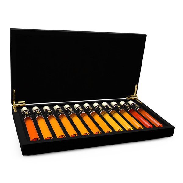 Cognac Tasting Collection 12 Tubes in Wooden Gift Box