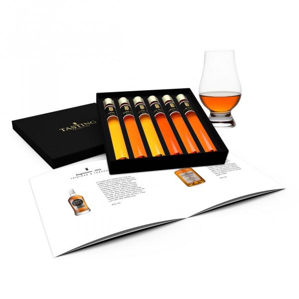Rum proeverij 6 Tubes in Luxe Doos