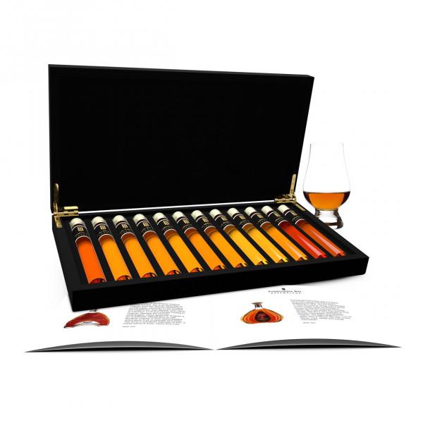 Cognac dégustation 12 Tubes en Coffret Bois