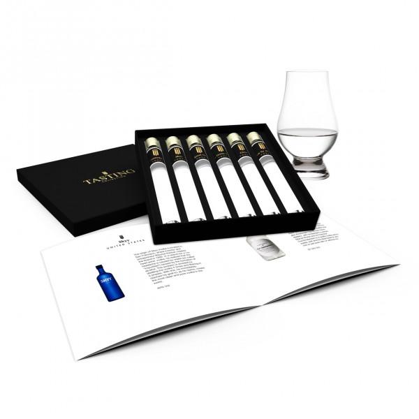 Vodka Probe 6 tubes in Luxusbox