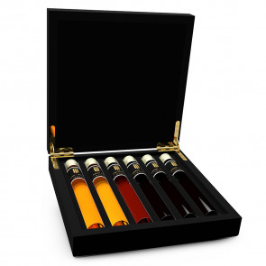 Liqueur Tasting Collection 6 Tubes in Wooden Gift Box