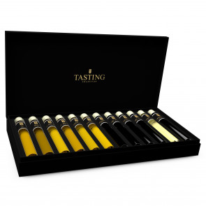 Olive Oil & Balsamic Vinegar Tasting Collection 12 Tubes in Wooden Gift Box