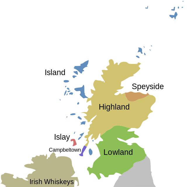 Whisky Regio's & Gebieden