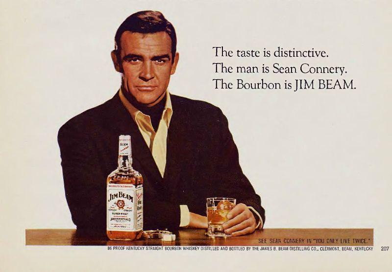 Sean connery reclame voor Jim BEam