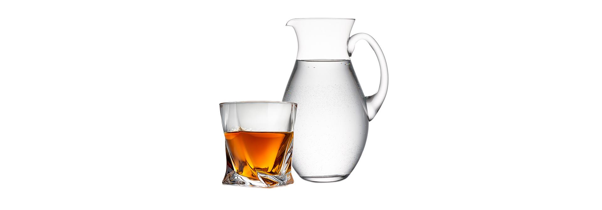 Water bij Whisky