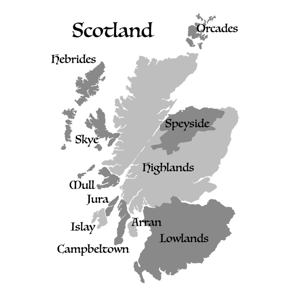 Schotse Whisky Regio's & Gebieden